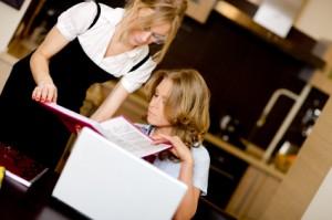 Young Women working using laptop